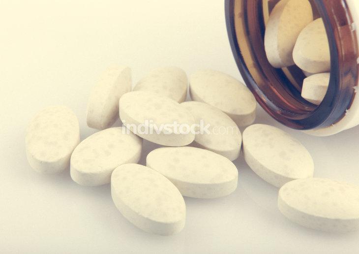 Medication Pills In Pills Bottle