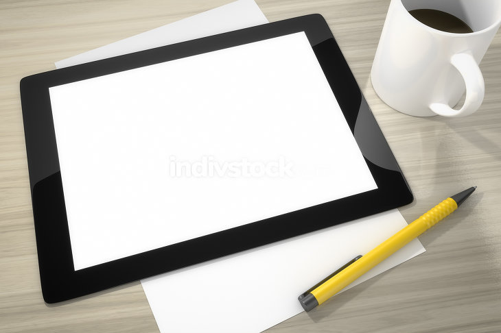 tablet pc at the table