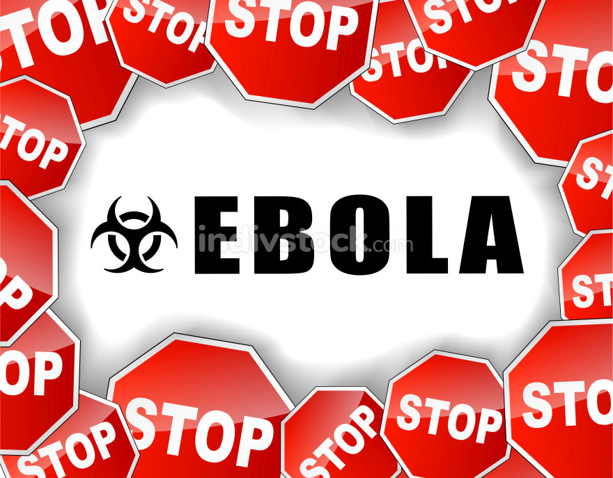 Stop ebola virus illustration