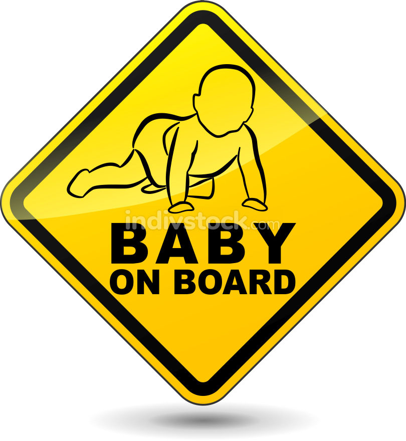 Vector baby on board sign