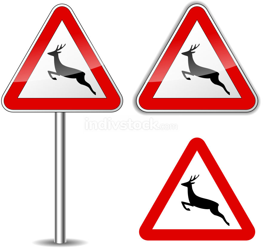 Vector deer signs