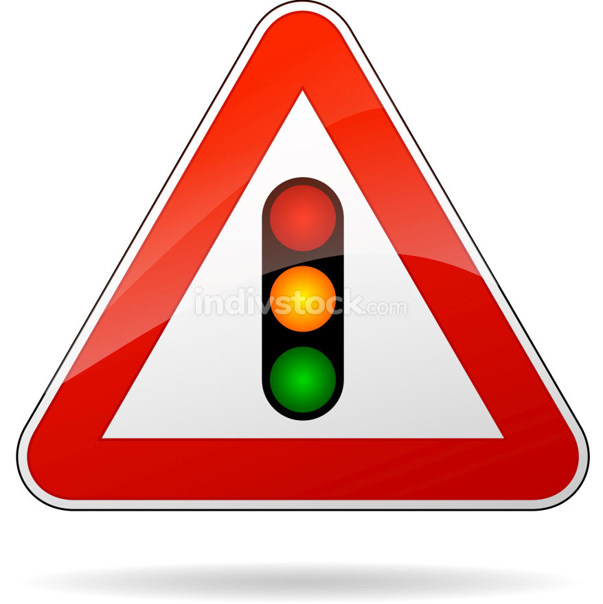 Vector traffic lights sign
