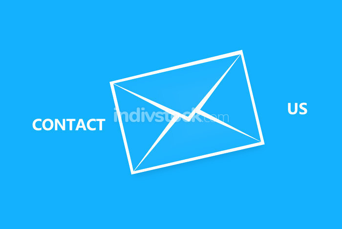 free download: blue contact us letter