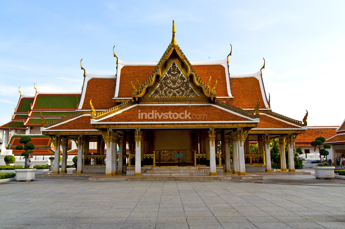 gold    temple   in   bangkok  plant