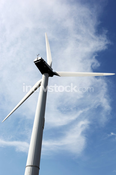 wind turbines on hight sky