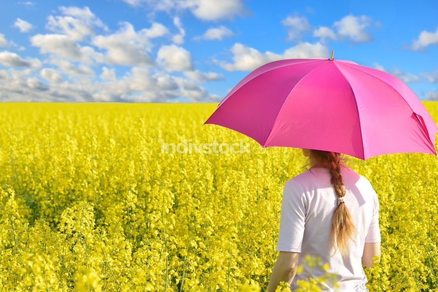 Woman in rape field
