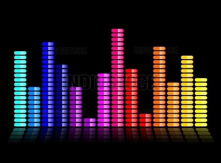 colorful music equalizer illustration