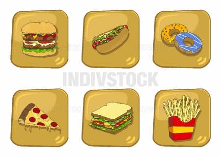 food and drink cartoon theme