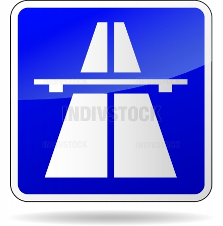 Vector freeway blue sign