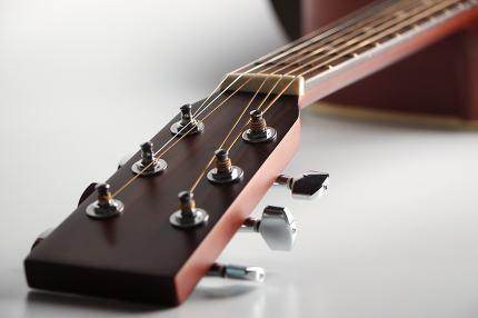 Acoustic guitar headstock