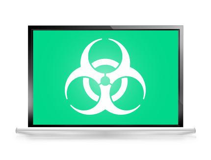 Alert computer screen Biohazard