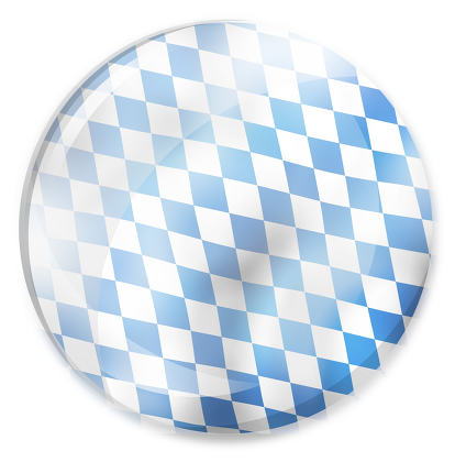 bavaria oktoberfest round blue glass