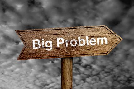 Big Problem Road Sign