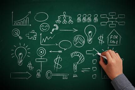 Business Chalkboard Background