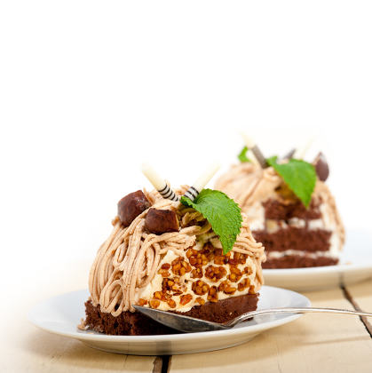 chestnut cream cake dessert