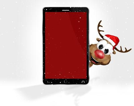 Christmas Red Mobile Phone