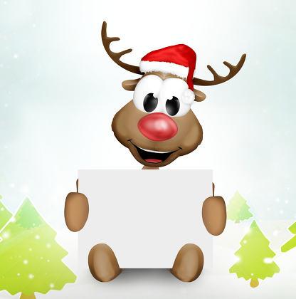 Christmas Reindeer Blank Board