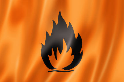 Flammable icon flag