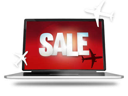 free download: Bold Sale silhouette planes red laptop screen