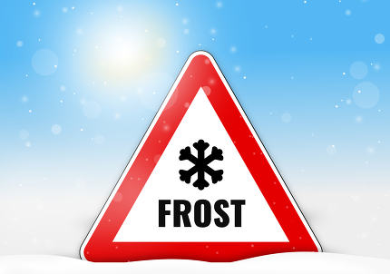 Frost red sign