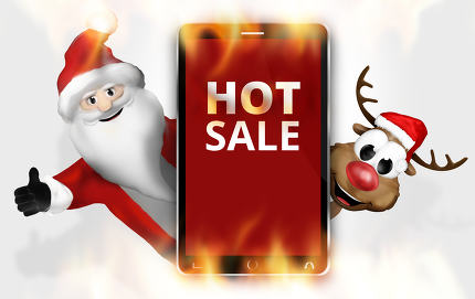 Hot Sale Christmas Red Mobile Phone