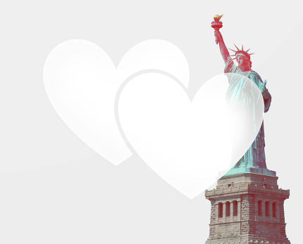 love usa Statue of Liberty fresh color