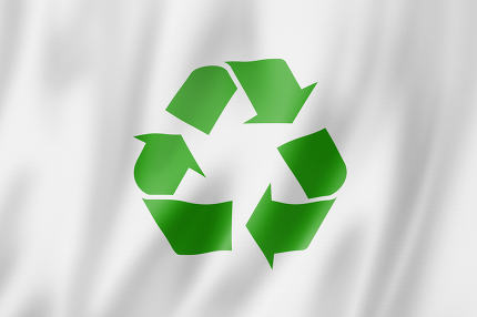 recycling symbol flag