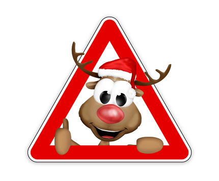thumbs up reindeer sign