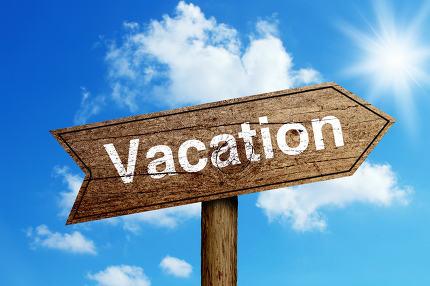 Vacation Road Sign