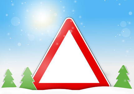 winter red sign