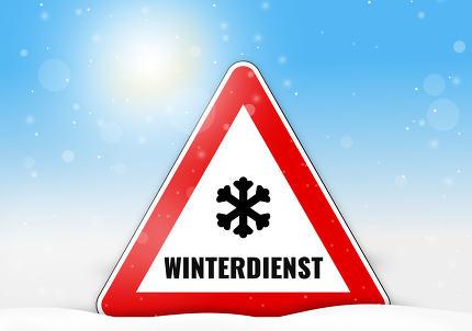 Winterdienst Schild