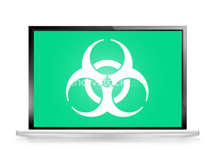 Alert computer screen Biohazard