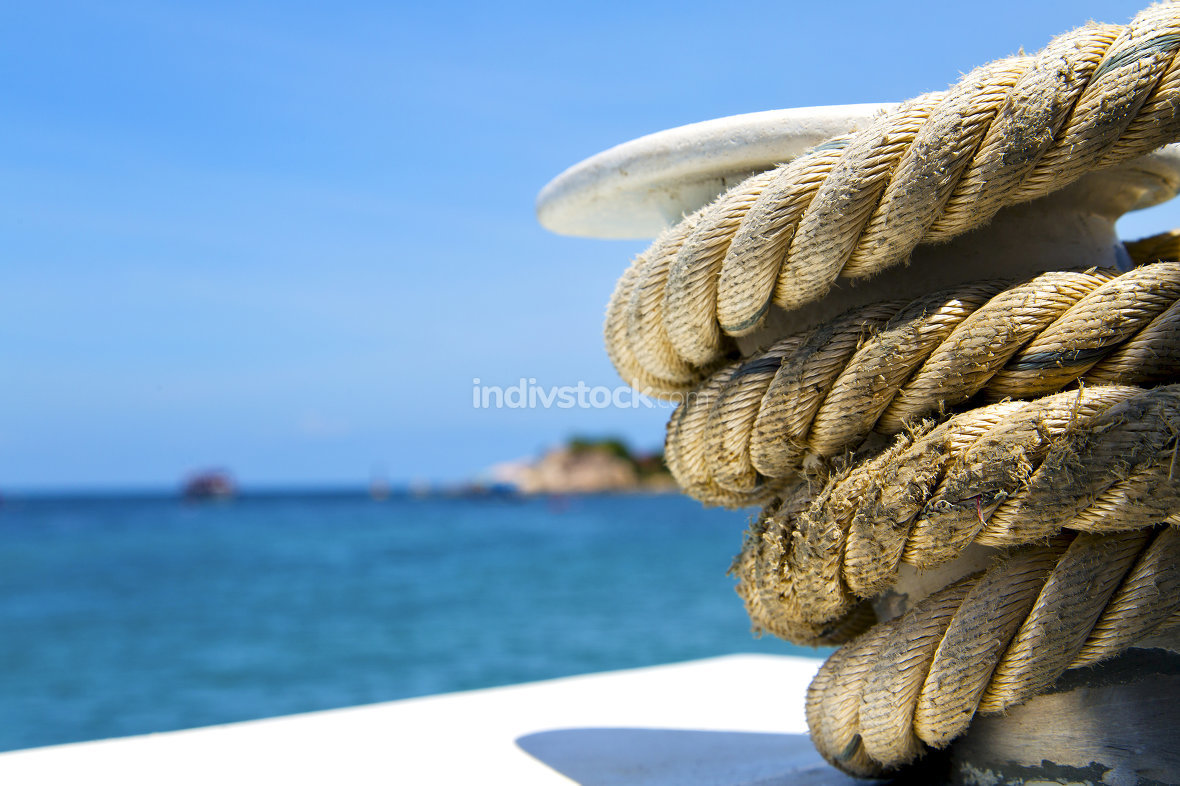 asia   the  kho tao bay isle white  ship   rope  and south china