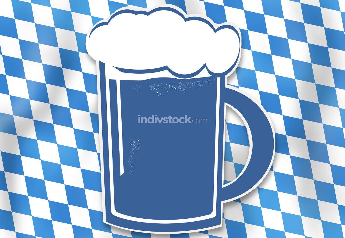 bavaria oktoberfest blue beer