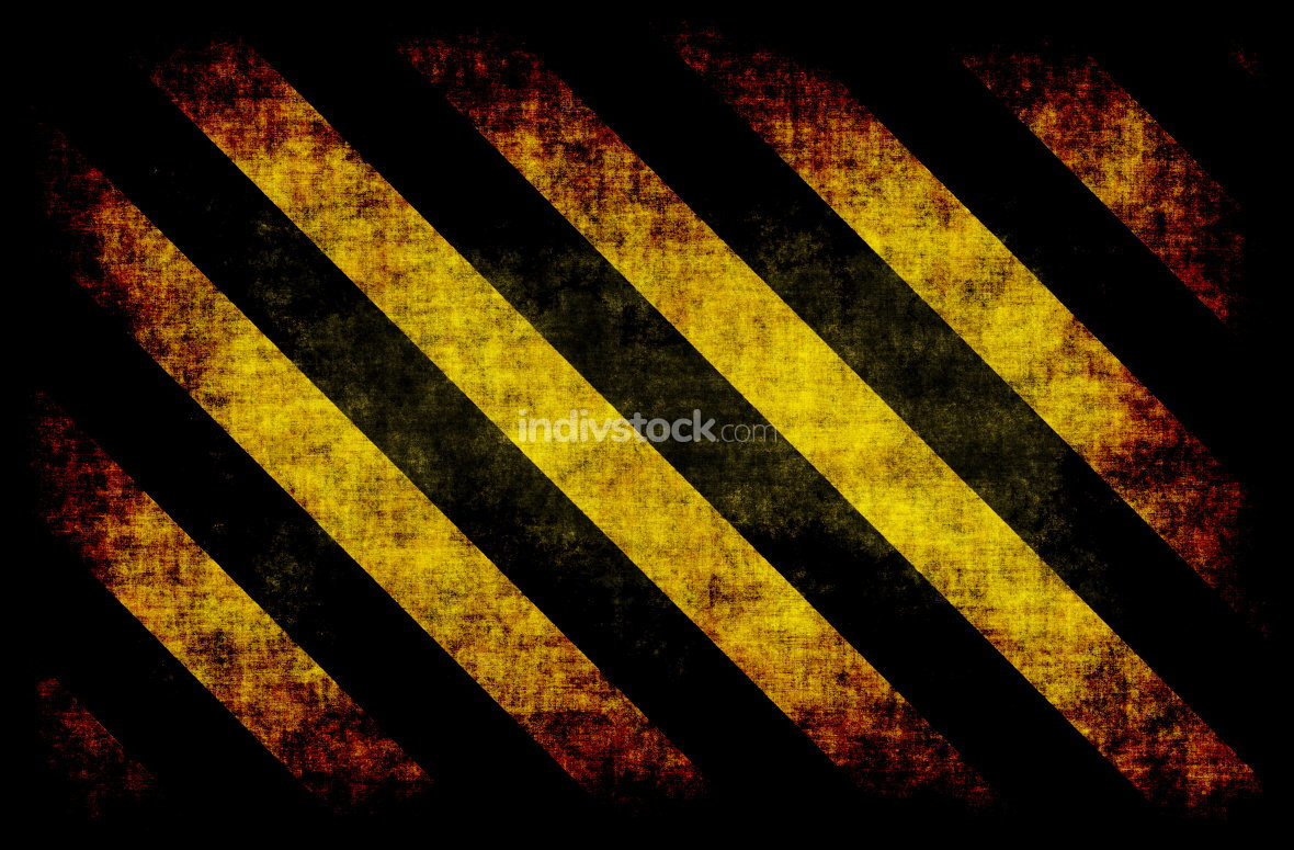 Black Yellow Hazard Stripes