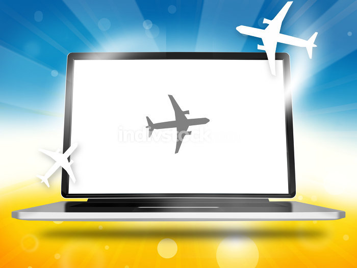 Booking Planes Laptop