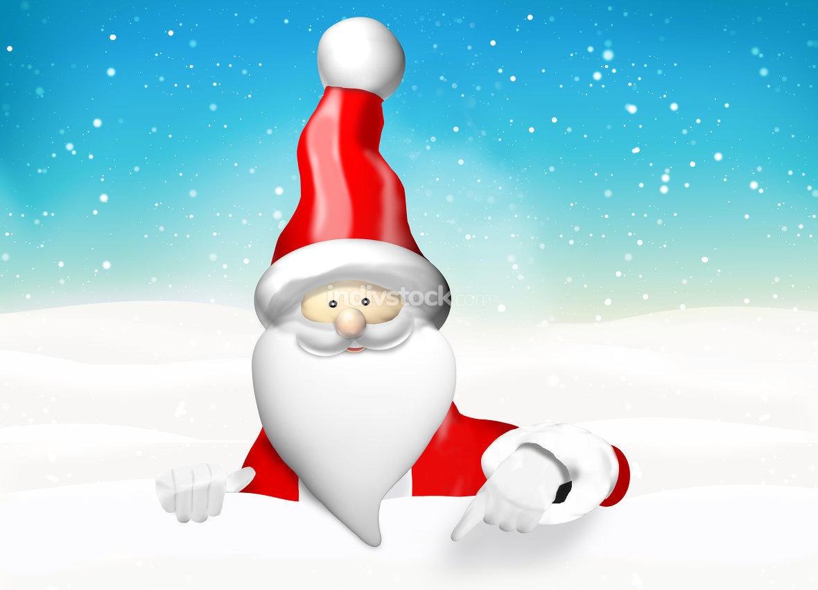 Christmas Santa Claus pointing