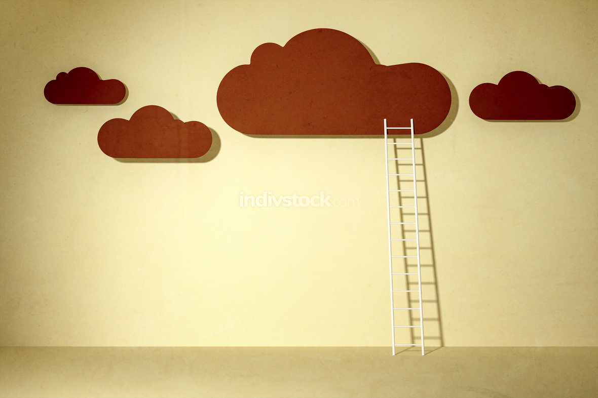 clouds and ladder