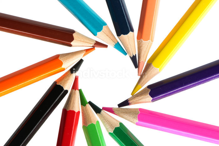 Color pencils circle