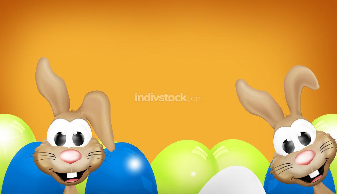 Easter Bunny Modern Easter Eggs Design