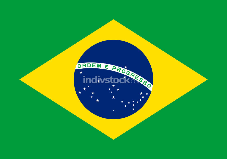 Flag of Brazil Horizontal
