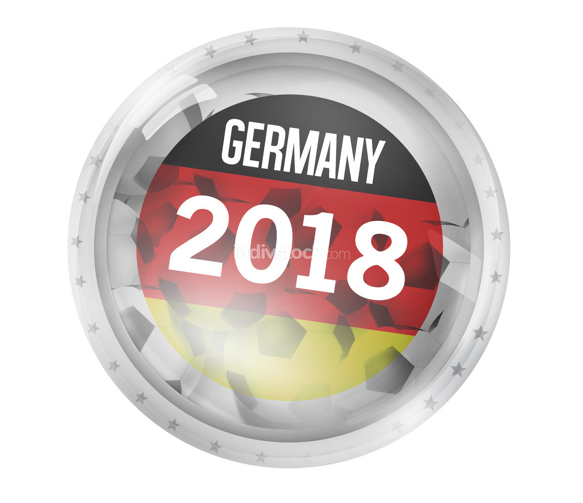 Germany Football Icon Badge Glass