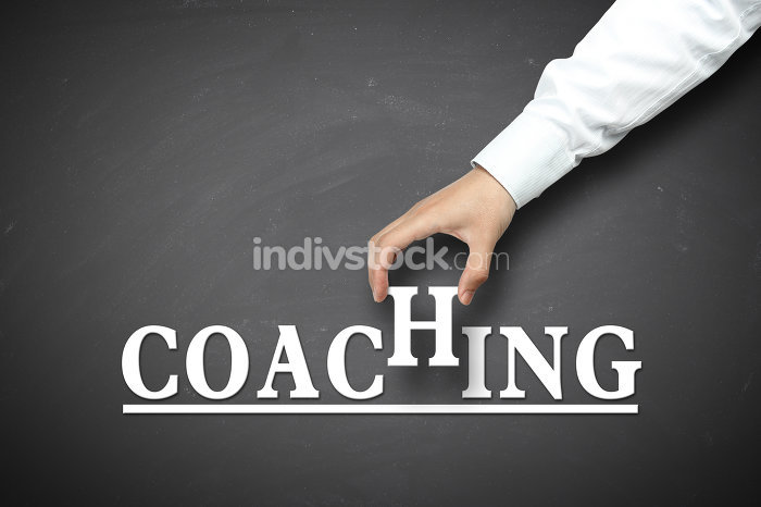 Hand holding coaching concept