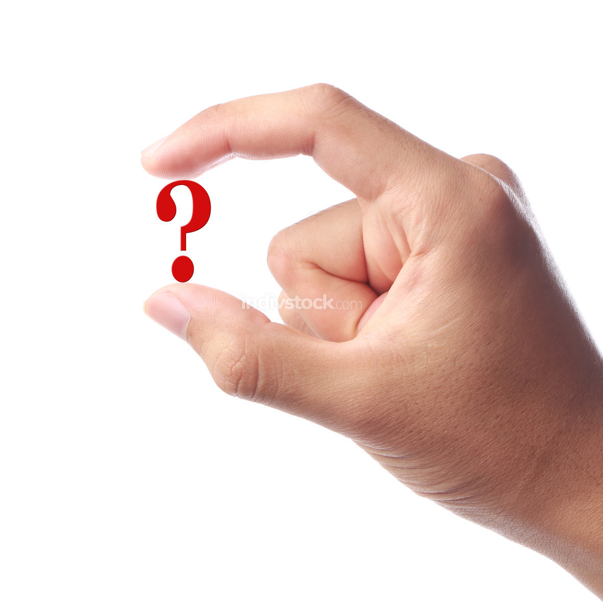 Holding Question Mark