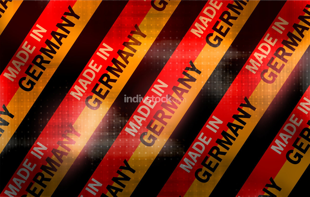made in germany texture of metal for background