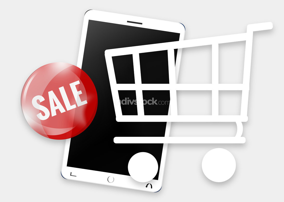 Modern Mobile Phone Shopping Cart