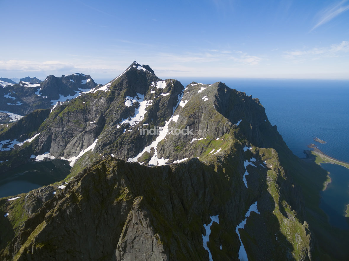 Mountains on Lofoten