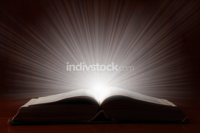 Old Book With Bright Light