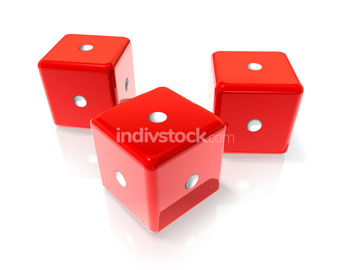One red dices