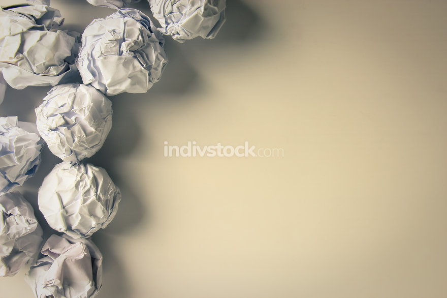 Paper Balls on blank background